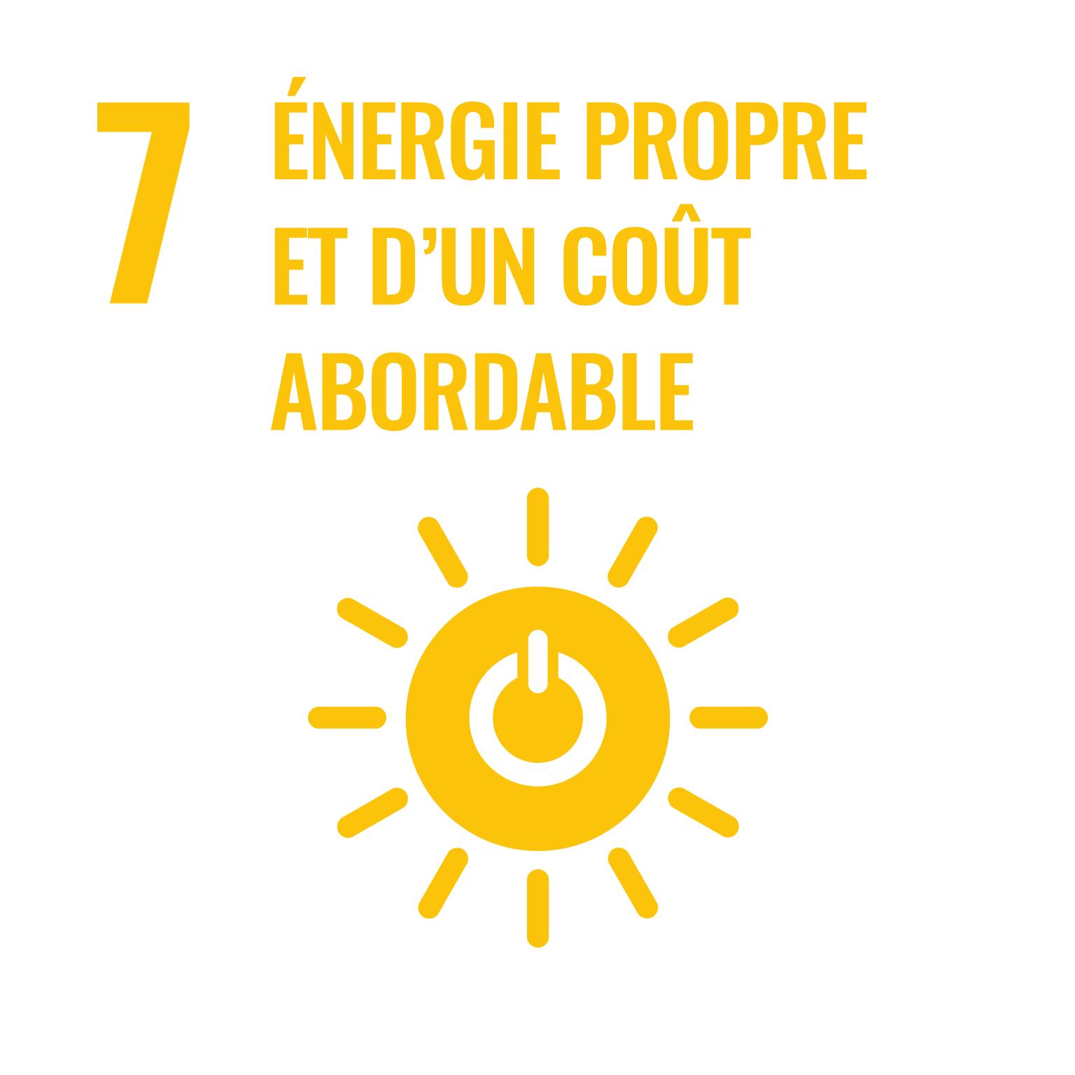 énergie propre et d'un coût abordable.